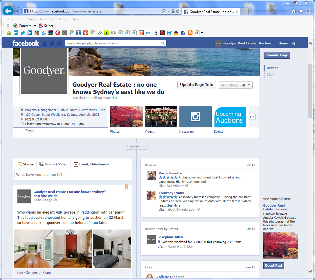 Goodyer's Facebook page